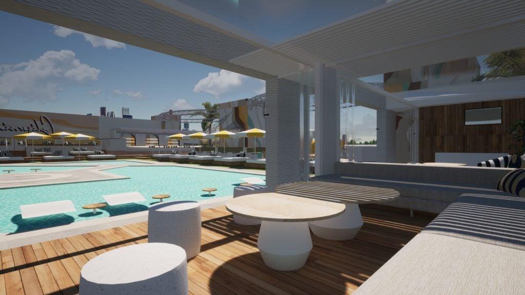 Cali Beach Club Cabana Inside